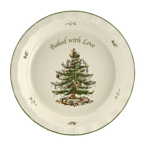 Live With It by Lora Hobbs Exclusives  Spode Christmas Tree Pie Dish, Baked with Love $25.00