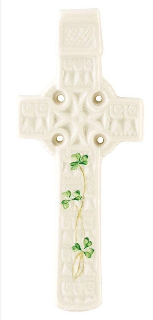 Belleek  Religious Gifts Celtic Shamrock Wall Cross $55.00