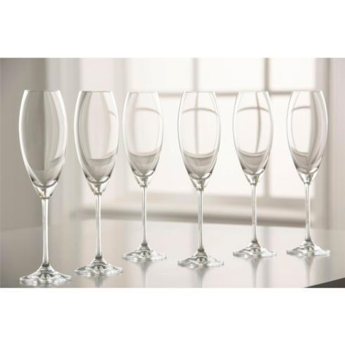 Galway Irish Crystal  Clarity Flute, Set of 6 $30.00