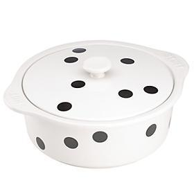 "Kate Spade  Bakeware and Baking Pans Deco Dot "" Hot Stuff"" Covered Casserole $60.00"