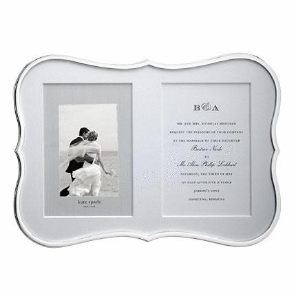 Kate Spade  Crown Point  Double Invitation Frame $100.00
