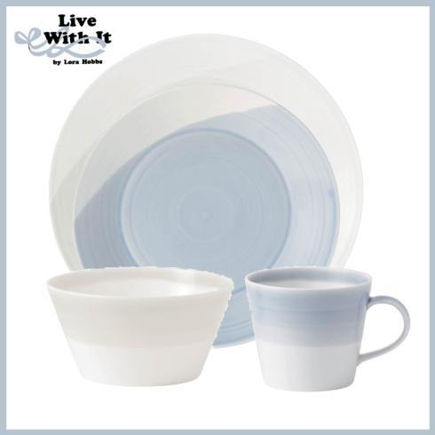Live With It by Lora Hobbs Exclusives  Custom Designed Place Settings 1815 White and Blue 4 Piece Place Setting $40.00