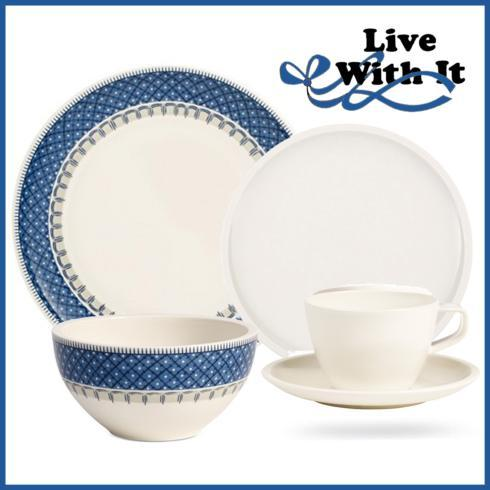 $90.00 Custom 5 Piece Place Setting Casale Blue & Artesano