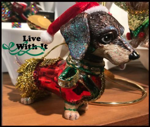 $15.00 Dachshund Dressed for Christmas Ornament