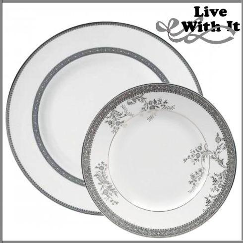 Live With It by Lora Hobbs Exclusives Vera Wang Fine Bone China Vera Lace Custom 2 Piece Place Setting  $75.00