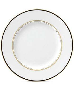 Kate Spade  Library Lane Black Dinner Plate $36.00