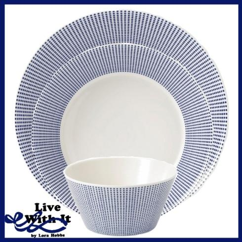 Live With It by Lora Hobbs Exclusives  Custom Designed Place Settings Pacific Dots 3 Piece Place Setting $32.00