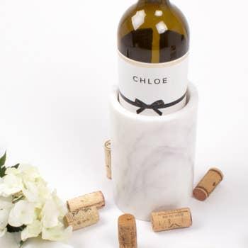 8 Oak Lane   White Marble Wine Chiller $40.00