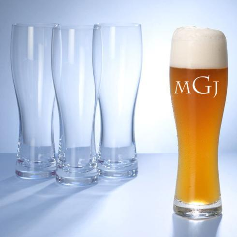 Villeroy & Boch  Purismo Wheat Beer Glasses, Set of 4 Engraved $69.00