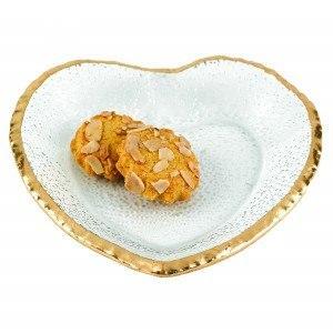 $28.00 Golden Edge Heart Dish