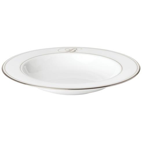 "Lenox Federal Platinum Monogram Script Dinnerware Collection Dinnerware Pasta / Rim Soup Bowl, ""B"" $43.40"