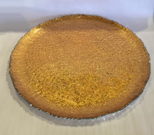 """Elegance by Leeber  Golden Lacquer Large Plate, 13.5"""" $44.00"""