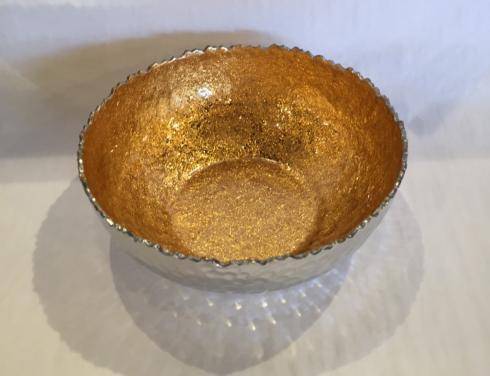 "Elegance by Leeber  Golden Lacquer Medium Bowl, 10"" $36.00"