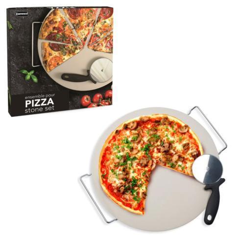 B.I.A. Cordon Bleu  Utensil Library Pizza Stone with Pizza Wheel 3 Piece Set $26.00