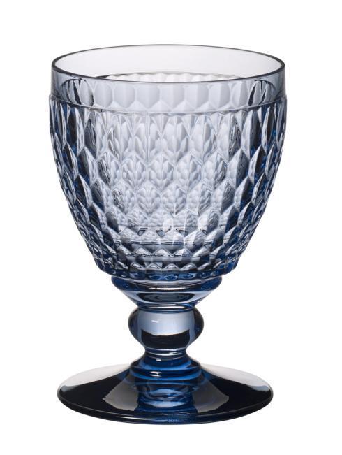 Villeroy & Boch Boston Crystal Blue Goblet Blue: Set of 4 $60.00