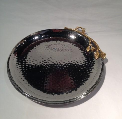 Elegance by Leeber  Golden Vine Hammered Round Tray $44.00