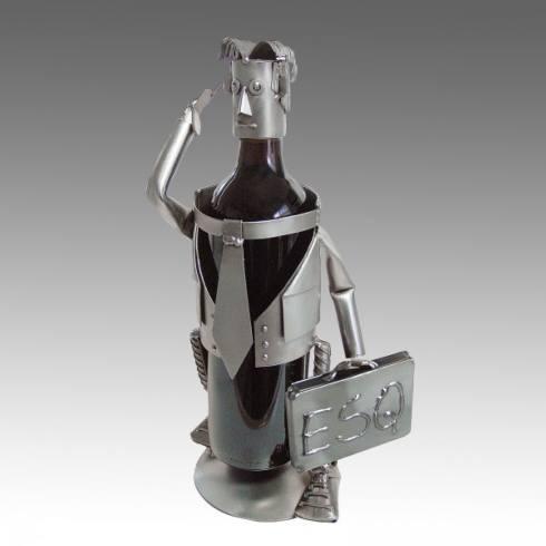 H & K Steel Sculptures  Steel Sculpture Wine Bottle Holders Attorney, Esquire Bottle Holder, Male  $88.00