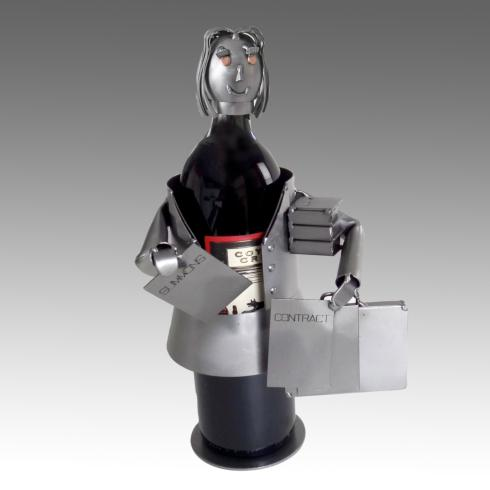 H & K Steel Sculptures  Steel Sculpture Wine Bottle Holders Attorney - Female: Wine Bottle Holder $84.00