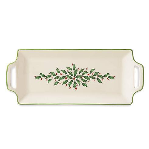 Lenox  Holiday Dinnerware Handled Hors D\'oeuvre Tray $50.00