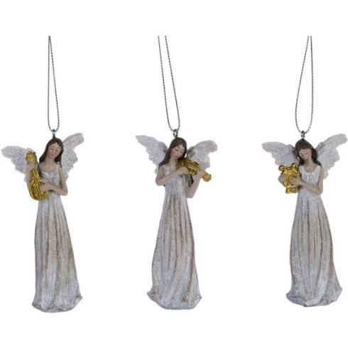 $24.00 Harmony Angel Ornament, Set of 3 Assorted