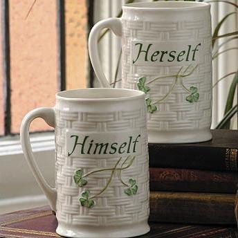 Belleek  Sayings Mugs Himself & Herself Mug Set $60.00