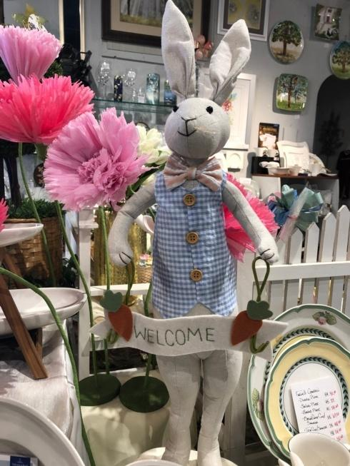 Live With It by Lora Hobbs Exclusives  Easter Welcome Easter Bunny $40.00