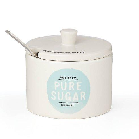 Kate Spade  Piping Hot Label Sugar Bowl with Spoon $15.00