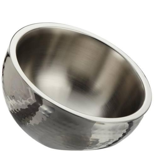 """Elegance by Leeber  Hammered Metal small angled nut bowl, 6"""" $25.00"""