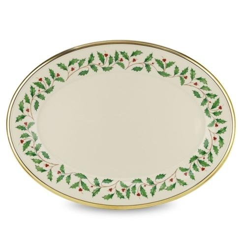 Lenox  Holiday Dinnerware Oval Platter, 16