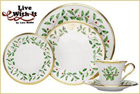 Holiday Monogram Dinnerware collection with 41 products