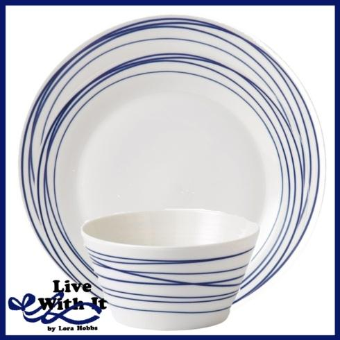 Live With It by Lora Hobbs Exclusives  Custom Designed Place Settings Pacific Lines 3 Piece Place Setting $32.00