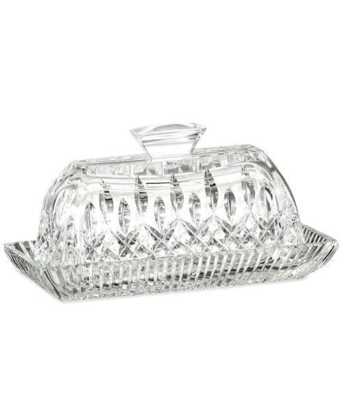 Live With It by Lora Hobbs Exclusives  Waterford Crystal --- Special Values Lismore Covered Butter Dish $155.00