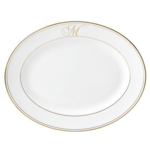 Lenox Federal Gold Monogram Script Serveware Oval Platter, M $170.00