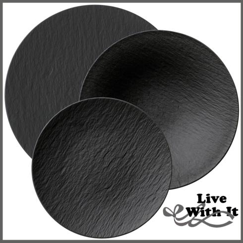 Villeroy & Boch  Black Custom 3 Piece Place Setting $92.00