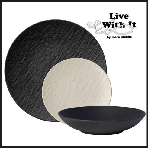 Villeroy & Boch Manufacture Rock Black 3 Piece Custom Place Setting $80.00