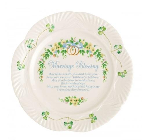 Belleek  Celebration Plates Marriage Blessing Plate $75.00