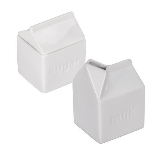 B.I.A. Cordon Bleu  White Serve Pieces Milk Carton Creamer & Sugar $30.00
