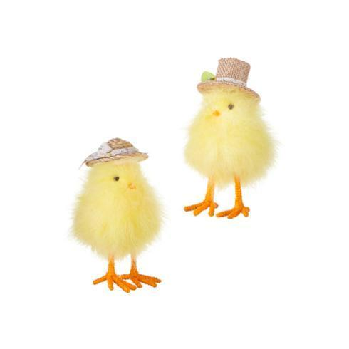 $24.00 Fluffy Chicks with Spring Hats, Set of 2