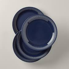 Navy Stoneware Dinner Plate, Set of 4