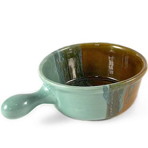 Clay in Motion   Ocean Tide Handled Soup Bowl $20.00