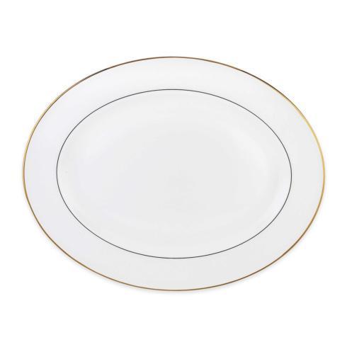 Lenox  Continental Dining Gold Oval Platter $100.00