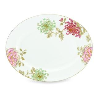 """Marchesa by Lenox  Painted Camellia Oval Platter, 13"""" $278.00"""