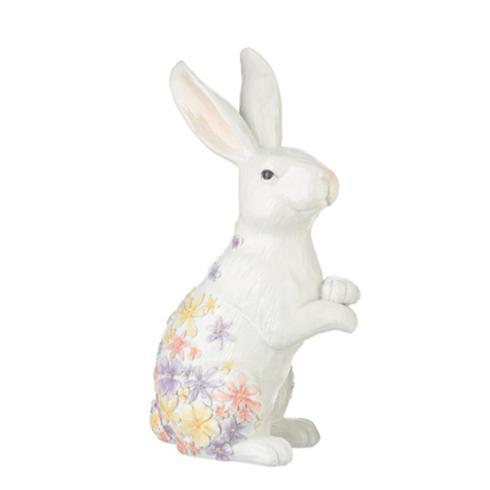 $30.00 Floral Embossed Crossed Paws Bunny