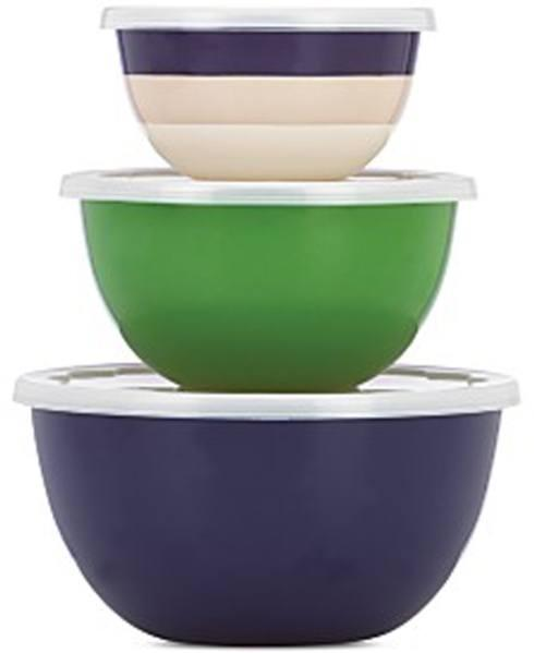 Kate Spade  Assorted Gifts for the Table and Kitchen Rainey Stripe Serve and Store With Lids, Set of 3 $50.00