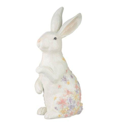 $30.00 Floral Embossed Reaching Paw Bunny