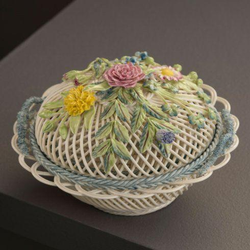 $450.00 Round Covered Basket S/S