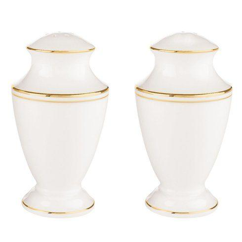 Lenox  Federal Gold Salt and Pepper Shaker Set $90.00