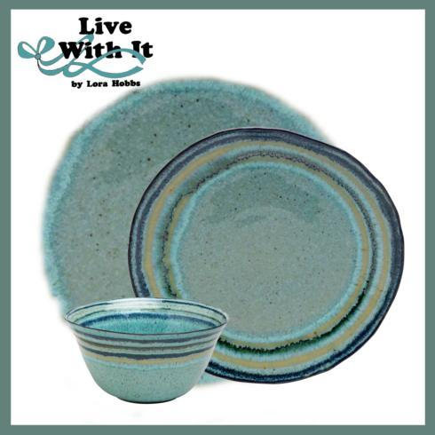 Live With It by Lora Hobbs Exclusives  Custom Designed Place Settings Custom Sausalito Green 3 Piece Placesetting $75.00