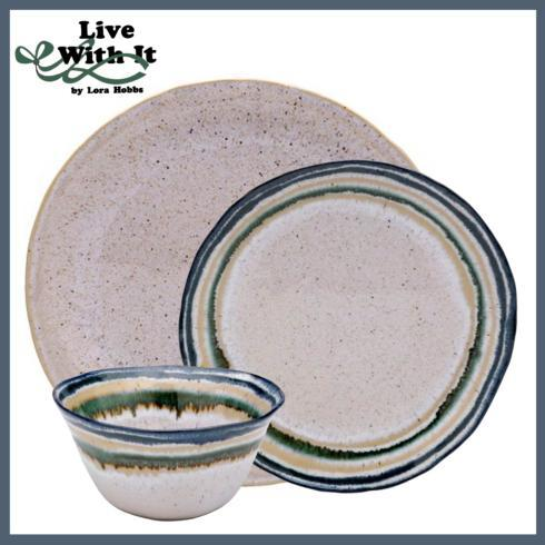 Live With It by Lora Hobbs Exclusives  Custom Designed Place Settings Custom Sausalito White 3 Piece Place Setting $75.00