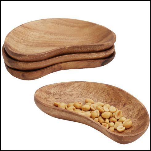 $18.00 Set of 4 Bean Snack Dishes